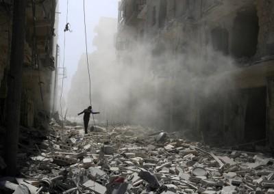 La ciudad de Alepo tras los devastadores ataques